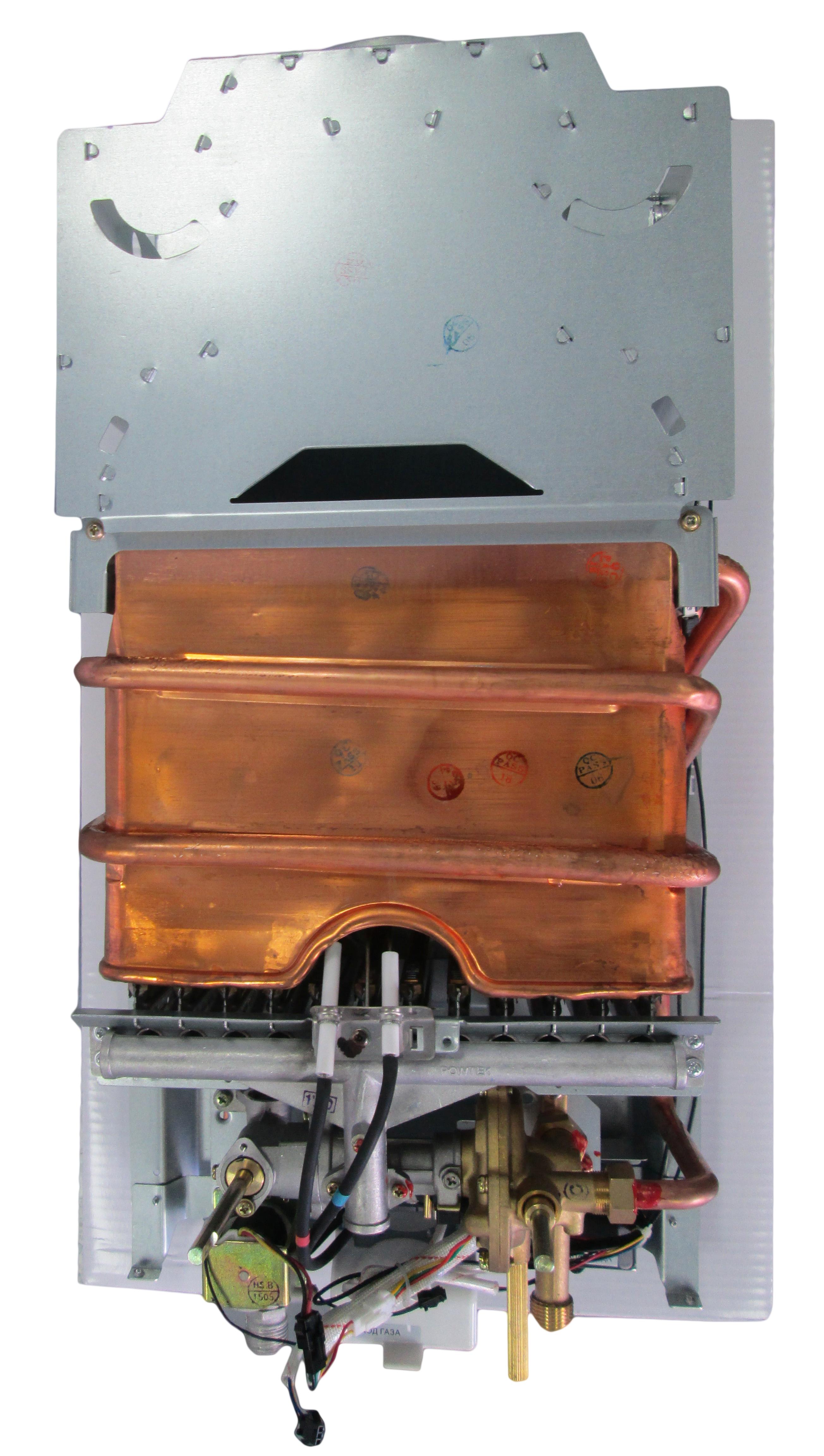 Газовый водонагреватель superflame без кожуха