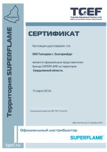 сертификат Топ сервис